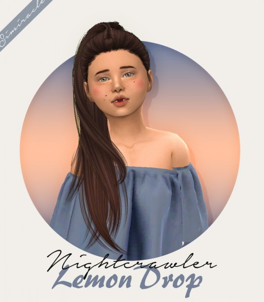The Sims Resource: Nightcrawler`s Lemon Drop hair retextured   Kids Version for Sims 4