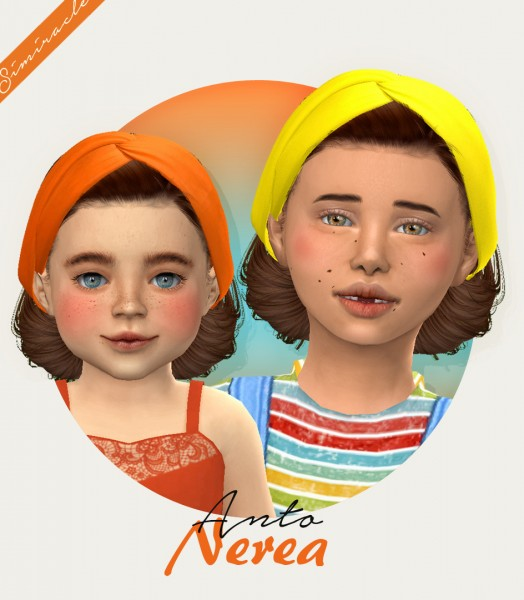 Simiracle: Anto`s Nerea hair retextured for Sims 4