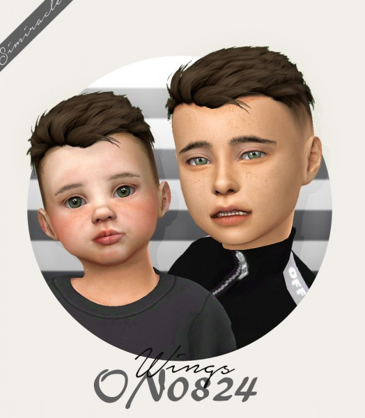 Simiracle: Wings ON0824 hair retextured for Sims 4