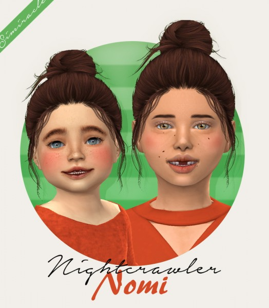 Simiracle: Nightcrawler`s Nomi hair retextured for Sims 4