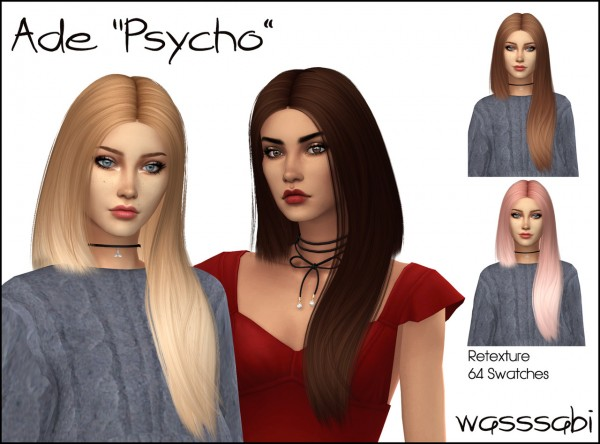 Wasssabi Sims: Ade Darma`s  Hair Retextured for Sims 4