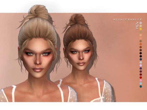 The Sims Resource: Nomi hair by Nightcrawler Sims for Sims 4