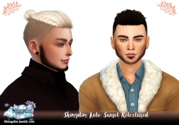 Shimydim: Anto`s Sunset Hair Retextured for Sims 4