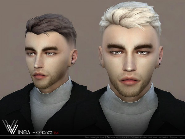 The Sims Resource: WINGS ON0705 hair for Sims 4
