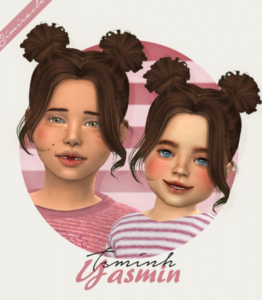 Simiracle: Tsminh`s Yasmin hair retextured for Sims 4