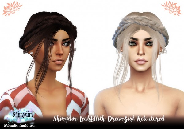 Shimydim: LeahLillith`s DreamGirl Hair Retextured for Sims 4