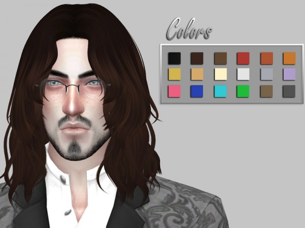 The Sims Resource: Anto`s Leo Hair Retextured Clayified by Veulir for Sims 4