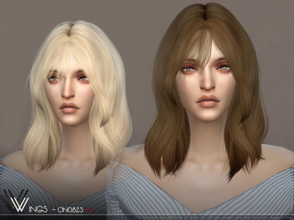 The Sims Resource: WINGS ON0826 hair for Sims 4