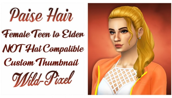 In My Dreams: Paise hair for Sims 4