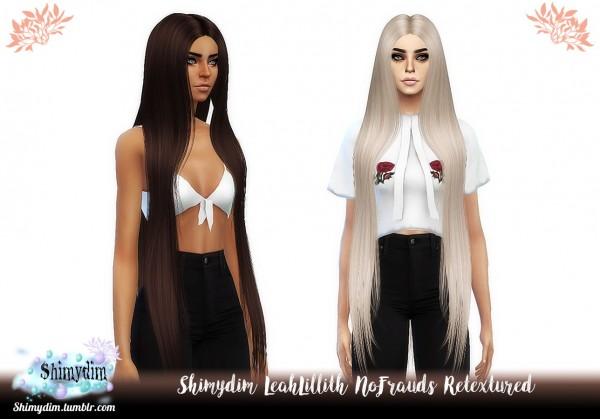 Shimydim: LeahLillith`s NoFrauds Hair Retextured for Sims 4