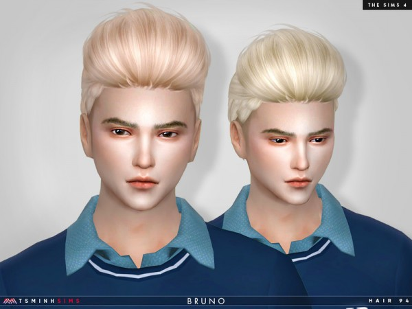 The Sims Resource: Bruno Hair 95 by TsminhSims for Sims 4