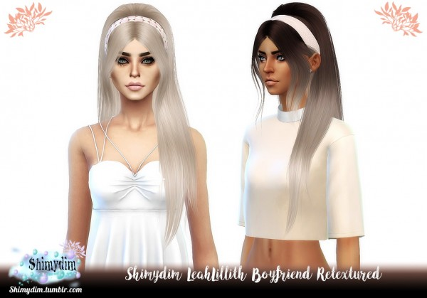 Shimydim: LeahLillith`s BoyFriend Hair Retextured for Sims 4