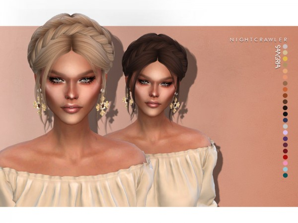 The Sims Resource: Sangria hair by Nightcrawler Sims for Sims 4