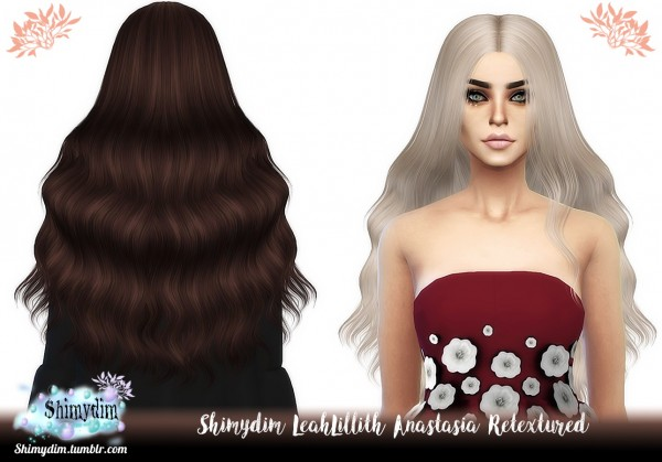 Shimydim: LeahLillith`s Anastasia Hair Retextured for Sims 4