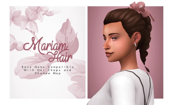 Isjao: Mariam Hair for Sims 4
