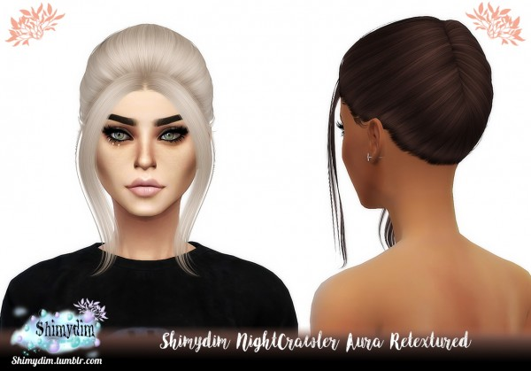 Shimydim: NightCrawler`s Aura Hair Retextured for Sims 4
