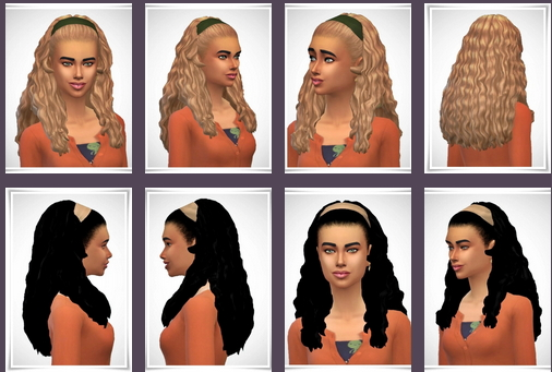 Birksches sims blog: Curls Hair Band for Sims 4