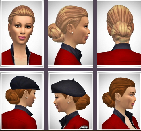 Birksches sims blog: Lady Smooth Knot hair for Sims 4