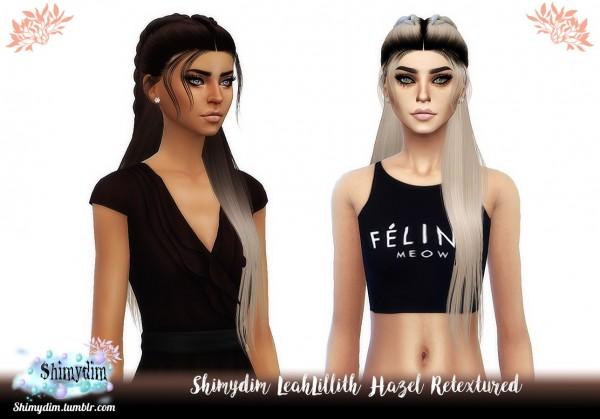 Shimydim: LeahLillith`s Hazel Hair Retextured for Sims 4