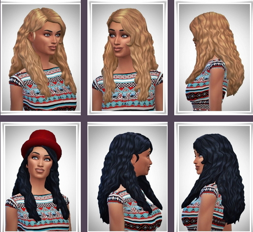 Birksches sims blog: Side Part Wavy Hair for Sims 4