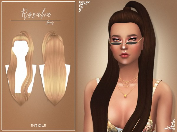 Enrique: Rosalia hair for Sims 4