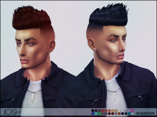 The Sims Resource: Josh Hair by mathcope for Sims 4