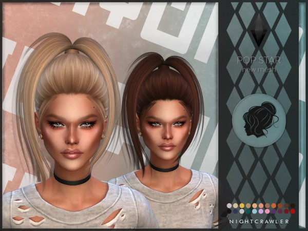 The Sims Resource: Pop Star by Nightcrawler for Sims 4