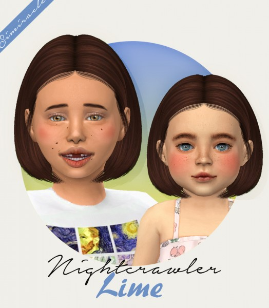 Simiracle: Nightcrawler`s Lime hair retextured for Sims 4