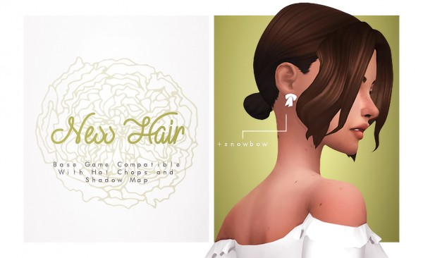 Isjao: Ness, Jess and Adeline Hairs for Sims 4