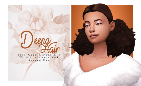 Isjao: Deena Hair for Sims 4