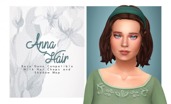 Isjao: Anna Hair for Sims 4