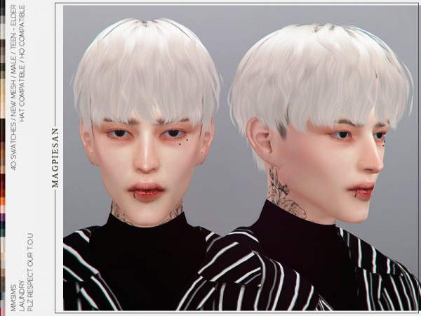 The Sims Resource: Laundry Hair by magpiesan for Sims 4
