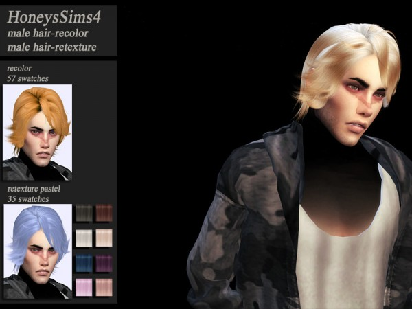 The Sims Resource: Wings ON0712 hair retextured by Jenn Honeydew Hum for Sims 4