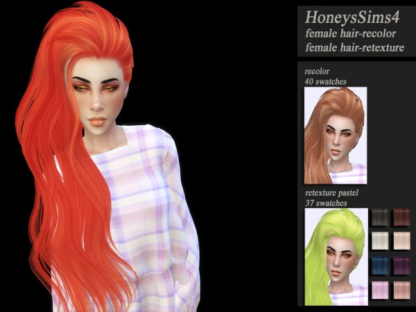 The Sims Resource: Skysims 264 hair retextured by Jenn Honeydew Hum for Sims 4