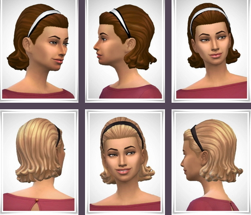 Birksches sims blog: Conny's Hair Hoop Curls for Sims 4