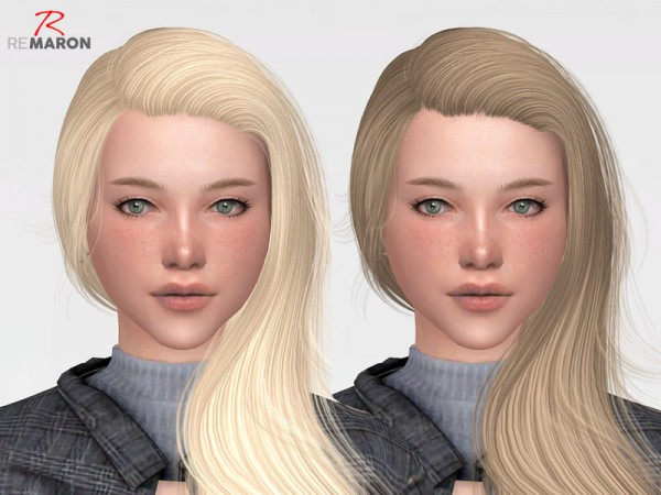 The Sims Resource: Wings OS0723 hair retextured by remaron for Sims 4
