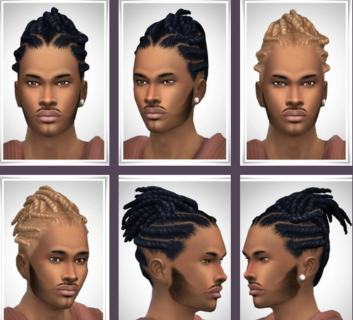 Birksches sims blog: Wood's Twist Dreads hair for Sims 4