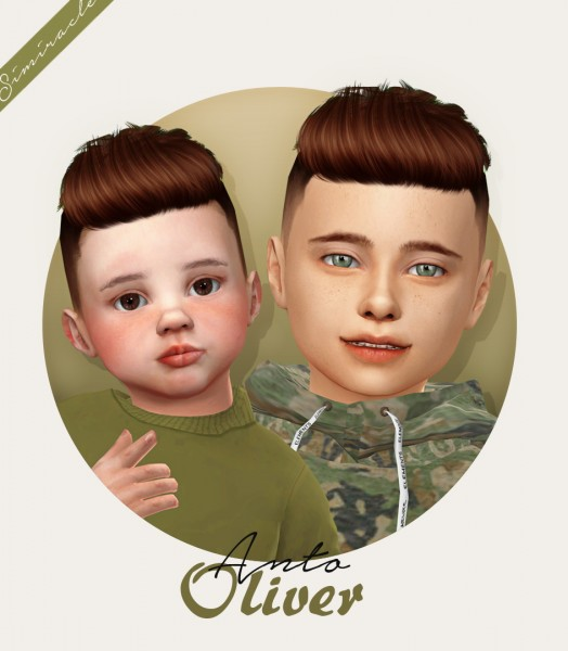 Simiracle: Anto`s Oliver hair retextured   kids and toddlers version for Sims 4