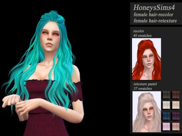 The Sims Resource: Skysims 265 hair retextured by Jenn Honeydew Hum for Sims 4