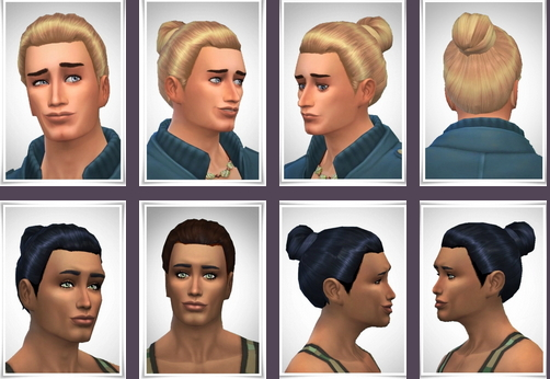 Birksches sims blog: Linus' Bun hair for Sims 4