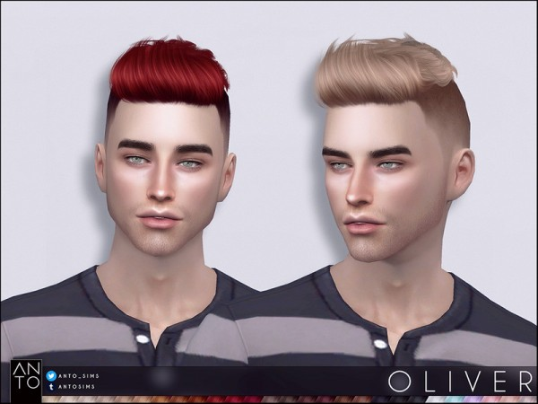 The Sims Resource: Oliver Hair by Anto for Sims 4