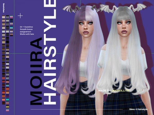 The Sims Resource: Moiira Hair by LeahLillith for Sims 4