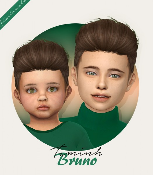 Simiracle: Tsminh`s Bruno hair retextured for Sims 4
