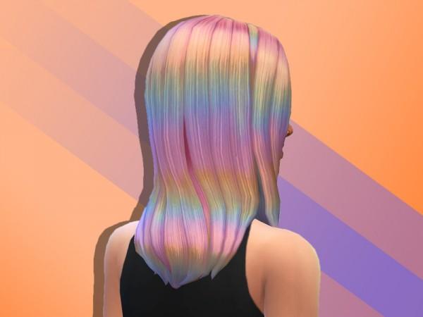 The Sims Resource: Kaceys  hair retextured by anastasiac21 for Sims 4