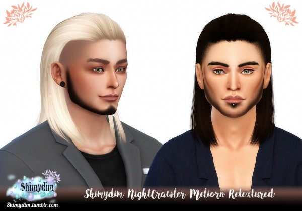 The Sims Resource: NightCrawler`s Meliorn hair retextured for Sims 4
