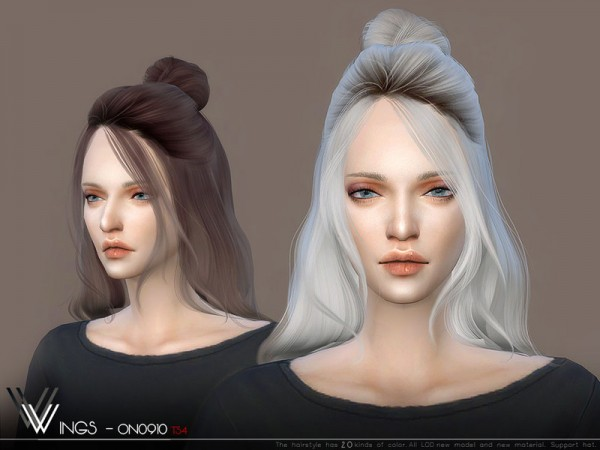 The Sims Resource: WINGS ON0910 hair for Sims 4