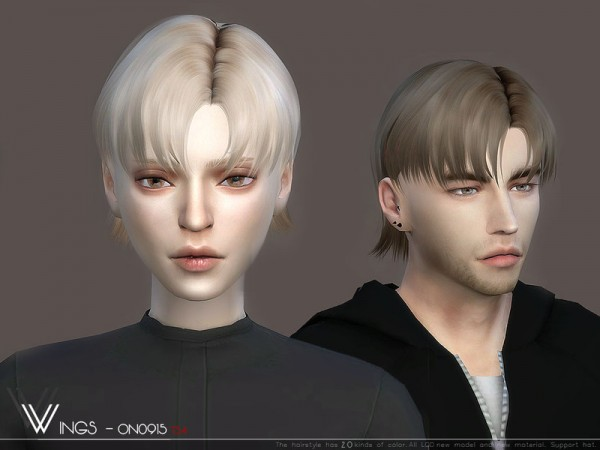 The Sims Resource: WINGS ON0915 hair for Sims 4
