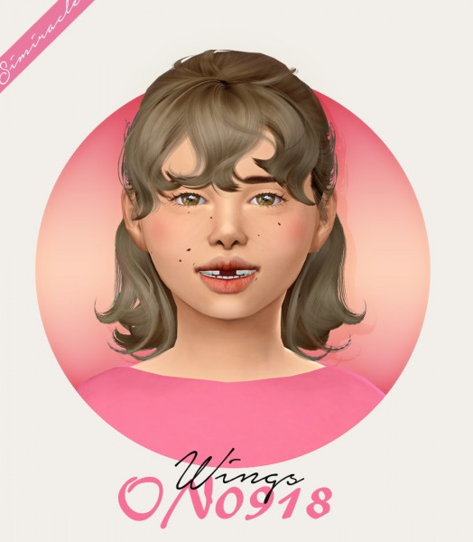 Simiracle: Wings ON0918 hair retextured   Kids Version for Sims 4