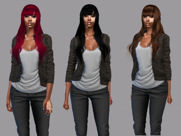 The Sims Resource: LaFolia Hair Recolored by Teenageeaglerunner for Sims 4