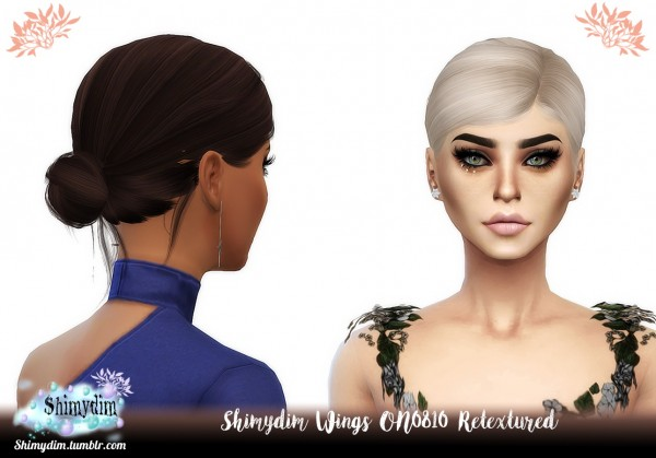 Shimydim: Wings ON0810 hair retextured for Sims 4